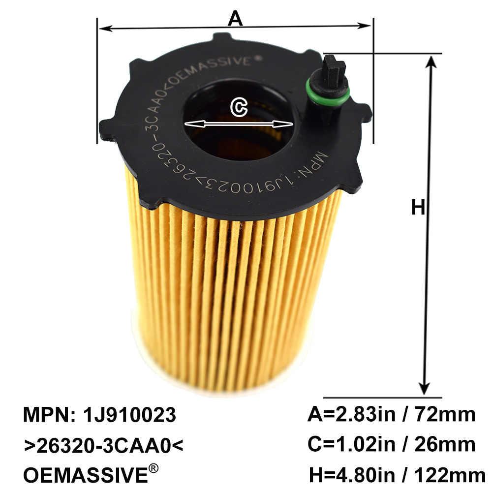 Set Of (10) 26320-3CAA0 Oil Filters For Hyundai Santa Fe CM DM 2010 2011 2012 2013 2014 2015 2016 2017 / Kia Sorento 3.3L 3.5L