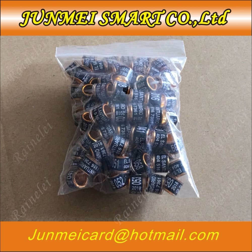 Ic/id Card Iot Devices Personal Customization Pigeon Rings Bird Ring Leg Rings Identify Dove Bands 8mm Plastic Aluminium Rings