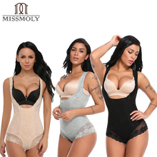 509eb30b46 Half-body Women Sexy Slim Lace Hot Shaper Strap Vest Shapers Shapewear  Girdles Bodywear Black