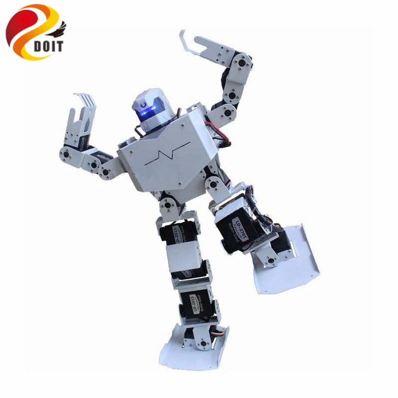 Official DOIT 16DOF Robo-Soul H3.0 Biped Robtic Two-Legged Human Robot Aluminum Frame Kit with Servo & Helmet new 17 degrees of freedom humanoid biped robot teaching and research biped robot platform model no electronic control system