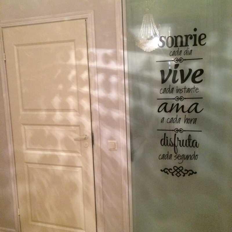 Бесплатная доставка, испанский дом, правила, стикер на стену, украшение для дома, Испанская версия, NORMAS DE CASA Vinilos Decorativos