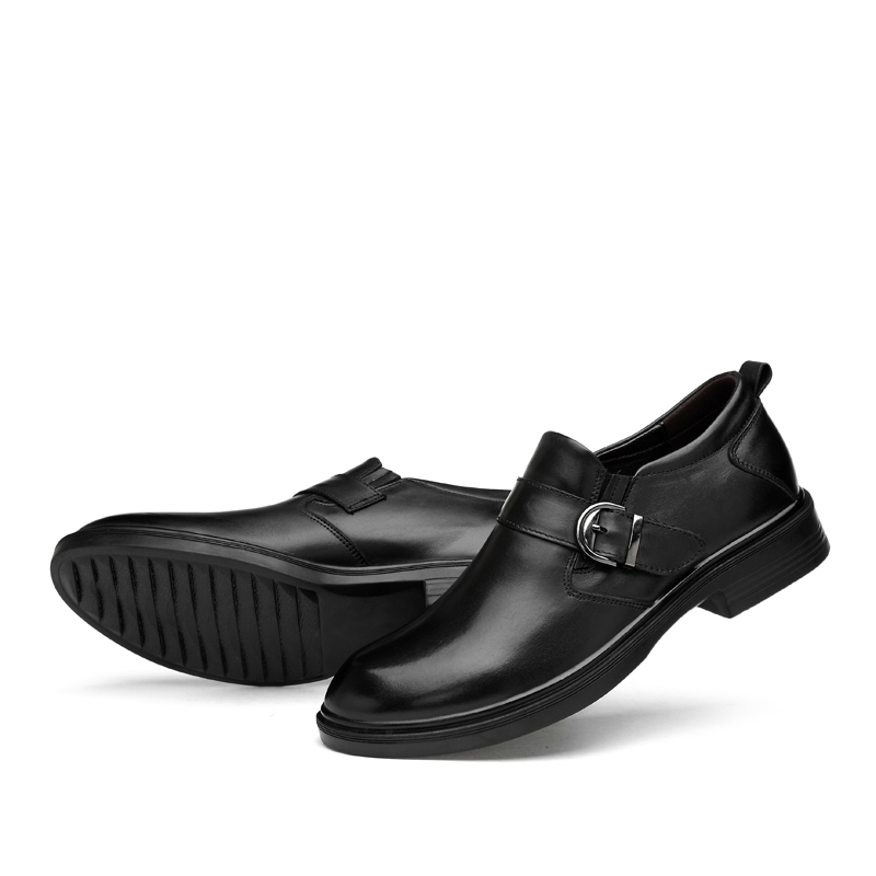 ODMORP Luxury Men Shoes Genuine Leather Black Dress Shoes Crocodile Prints Casual Business Men Wedding Shoes Big Size 38-49