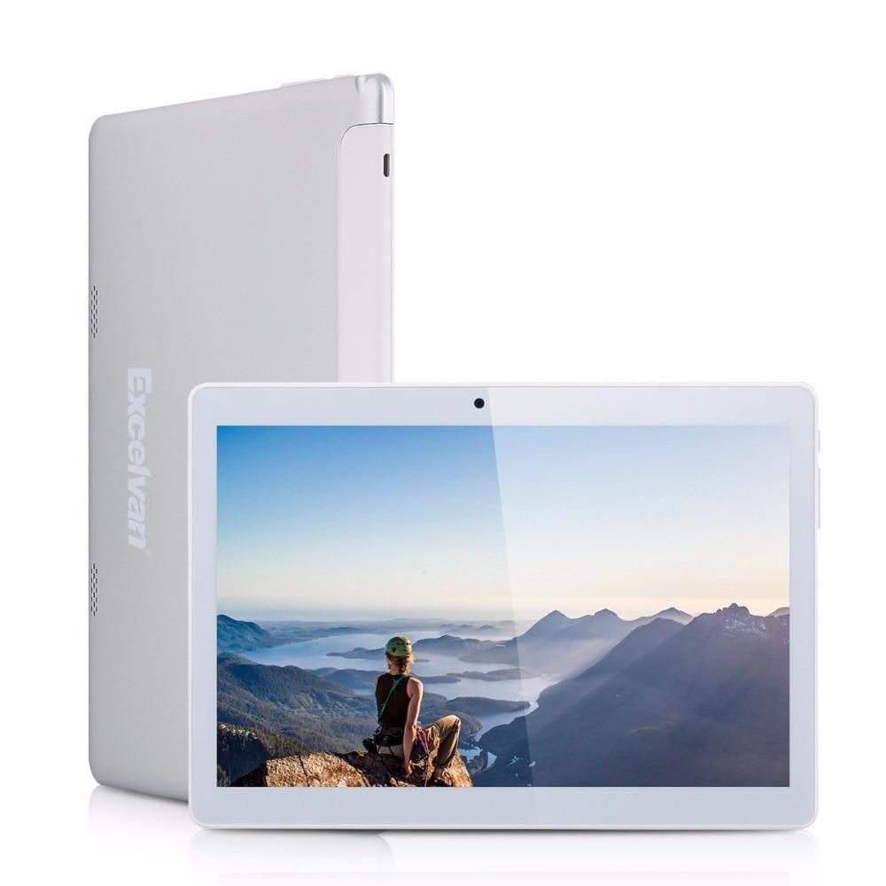 Prix pour Excelvan 10.1 pouce 3G Phablet 1280*800 Android 4.4 MTK6582 Quad Core 1 GB + 16 GB WiFi Double Caméra G-capteur GPS OTG FM Tablet PC
