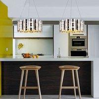 Post Modern Luxurious Fashion Metal Crystal Chandelier Villa Living Room Bedroom Restaurant Bar Crown Chandelier Free