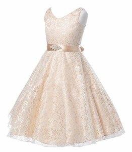 Image 2 - Cailini vestido de princesa para meninas, vestidos de princesa de renda para crianças, aniversário, casamento, festa, branco, preto, dança, 3 14 anos