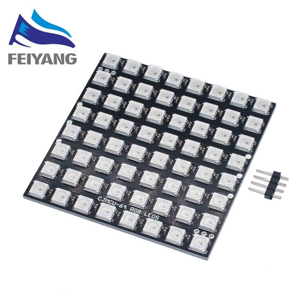1 pcs WS2812 LED 5050 RGB 8x8 64 LED matris1 pcs WS2812 LED 5050 RGB 8x8 64 LED matris