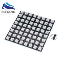 1 piezas WS2812 LED 5050 RGB 8x8 de 64 matriz LED