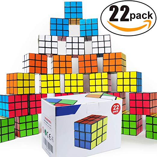 Mini Cube,Puzzle Party Toy,Eco-Friendly Material with Vivid Colors,Party Favor School Supplies Puzzle Game Set for Boy Girl Kids