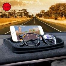 Silica Gel Car Dashboard Anti Slip Mat Holder Support Tray Bracket for Phone Pad Glasses Key Tesla Accessories Black