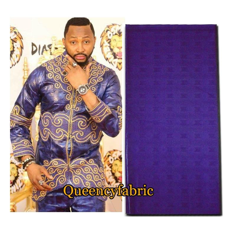 BQ030 Africain Bazin Qualité Doux Africain Batik Traditionnel À La Mode Femme et Homme Vêtements Tissu pour boubou brocade