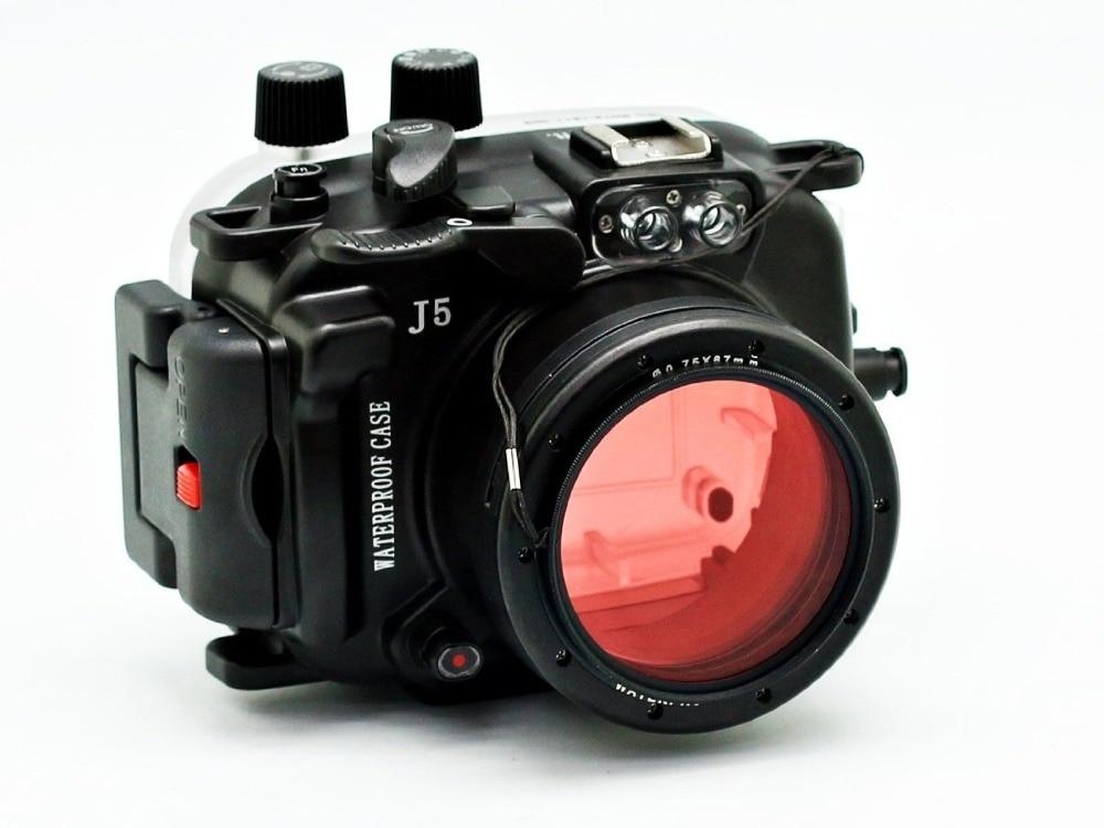 40 m/130ft Diving Macchina Fotografica Subacquea custodia/Impermeabile Borsette Caso Per Nikon J5 (10mm) (10-30mm) Lente