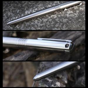 Image 4 - חדש טיטניום טקטי עט 2 In 1 מזרקת דיו עט הגנה עצמית זכוכית מפסק חיצוני הישרדות EDC כלי מתנה Dropshipping