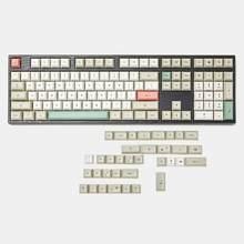 143 125 dsa dye sub 9009 retro pbt teclado, conjunto completo para teclado mecânico mx ducky 104 tkl 61 kbd75 kira96 ymd96 xd64 tada68