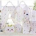 5 pçs/set Conjunto de Roupas para 0-3 M Do Bebê Recém-nascido presente 5 pçs/set Bebê Menino Menina Roupas de Algodão longo bebê roupas de bebê roupas Íntimas conjunto