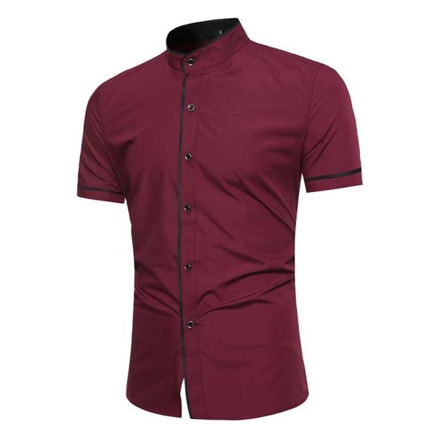3067f268582ce9 Mężczyzna Pulower Lniane Koszule Z Krótkim Rękawem Lato Oddychające Męskie  Jakości Koszule Slim fit Solidna Bawełna