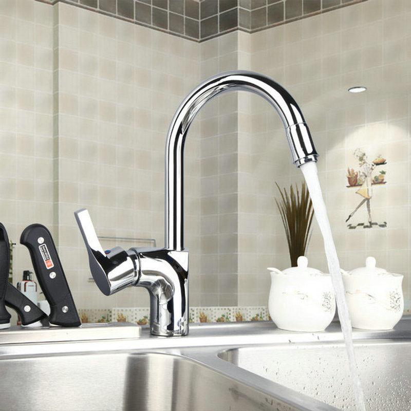 360 Swivel Single Handle Concept Kitchen Sink Basin Chrome Brass Deck Mounted M 021 Mixer Tap