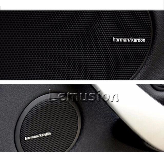 Car-styling Harman Kardon For BMW E46 E39 E60 E90 E36 F30 F10 X5 E53 E34 E30 Mini Cooper Lada Audio Speaker Stickers Accessories