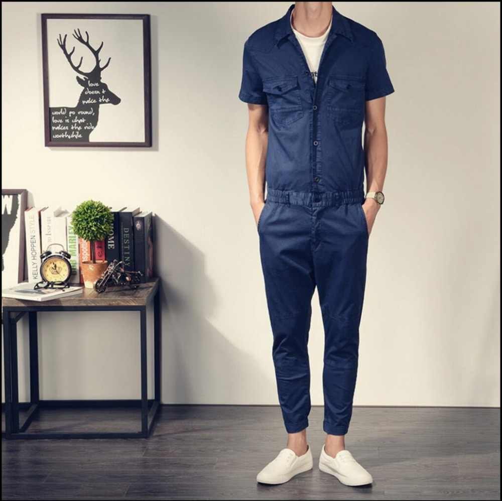 d36eb2bb331 2019 New men s retro casual pants Slim leotard tide pantyhose overalls  ankle length pants ...