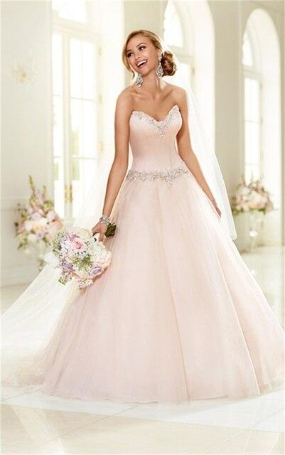 Neueste Design Prinzessin Ballkleid Blush Hochzeitskleid 2015 Schatz ...