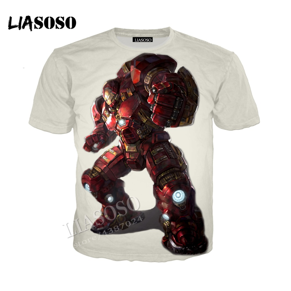 LIASOSO Marvel movie 3D printing shirt Iron Man solid color men women hoodie zipper clothing sportswear two-color optional CX185
