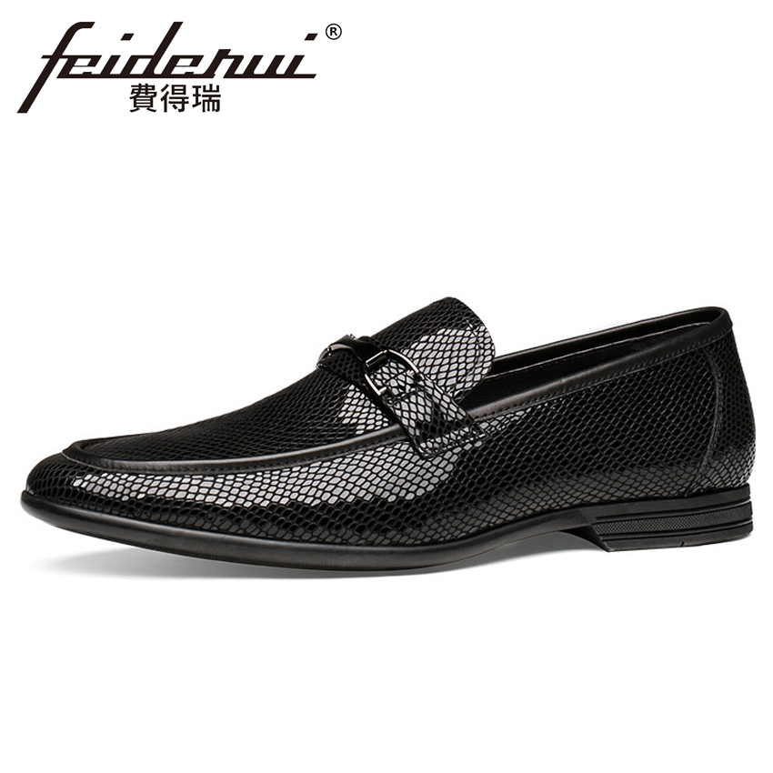 New Luxury Patent Leather Mens Comfortable Loafers Elegant Round Toe Slip on Metal Tips Handmade Man Driving Shoes YMX617New Luxury Patent Leather Mens Comfortable Loafers Elegant Round Toe Slip on Metal Tips Handmade Man Driving Shoes YMX617