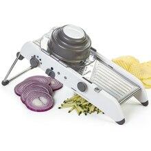 Einstellbare Mandolinenschneider Professionelle Reibe mit 304 Edelstahl Klingen Gemüseschneider Küche Zubehör