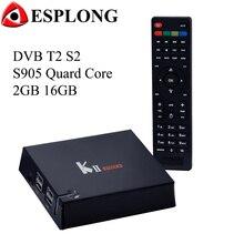 KII Pro DVB-T2 DVB-S2หุ่นยนต์ทีวีกล่องAmlogic S905 2กิกะไบต์16กิกะไบต์q uad CoreของKodiสมาร์ทIPTVช่องบลูทูธไร้สายMiracastเครื่องเล่นสื่อ4พัน