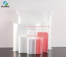 D&P 1000pcs Various size Clear zip lock plastic packaging bags Transparent zipper Waterproof Dustproof poly storage