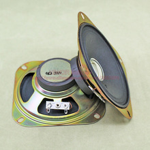 (2pcs/lot) 4 ohm 3W 3 Watts 102MM 4 inch Square Speaker 45MM External Magnetic Bright Hat Height 36MM