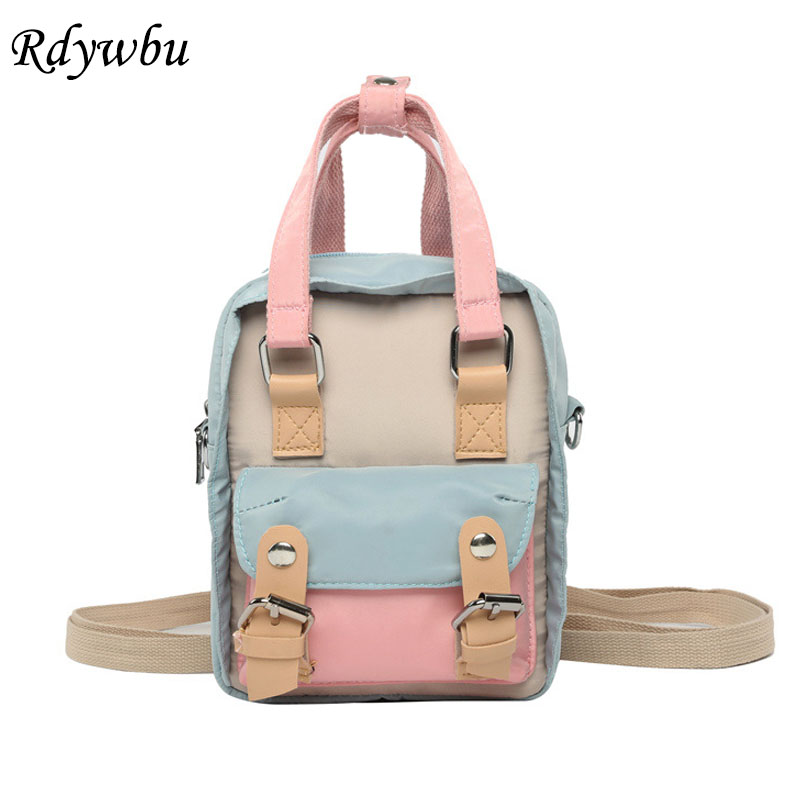 Rdywbu Multifunctional Mini Backpack Women Casual Patchwork Waterproof Bagpack Girl Small Travel Shoulder Bag School Bolsas B642Rdywbu Multifunctional Mini Backpack Women Casual Patchwork Waterproof Bagpack Girl Small Travel Shoulder Bag School Bolsas B642
