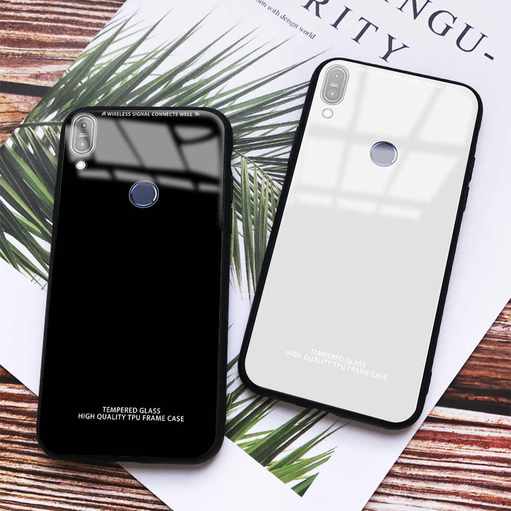 Fashion Glass Phone Case For Asus Zenfone Max Pro M1 ZB602KL ZB601KL M2 ZB631KL ZB633KL Silicone Bumper Full Protective Cover