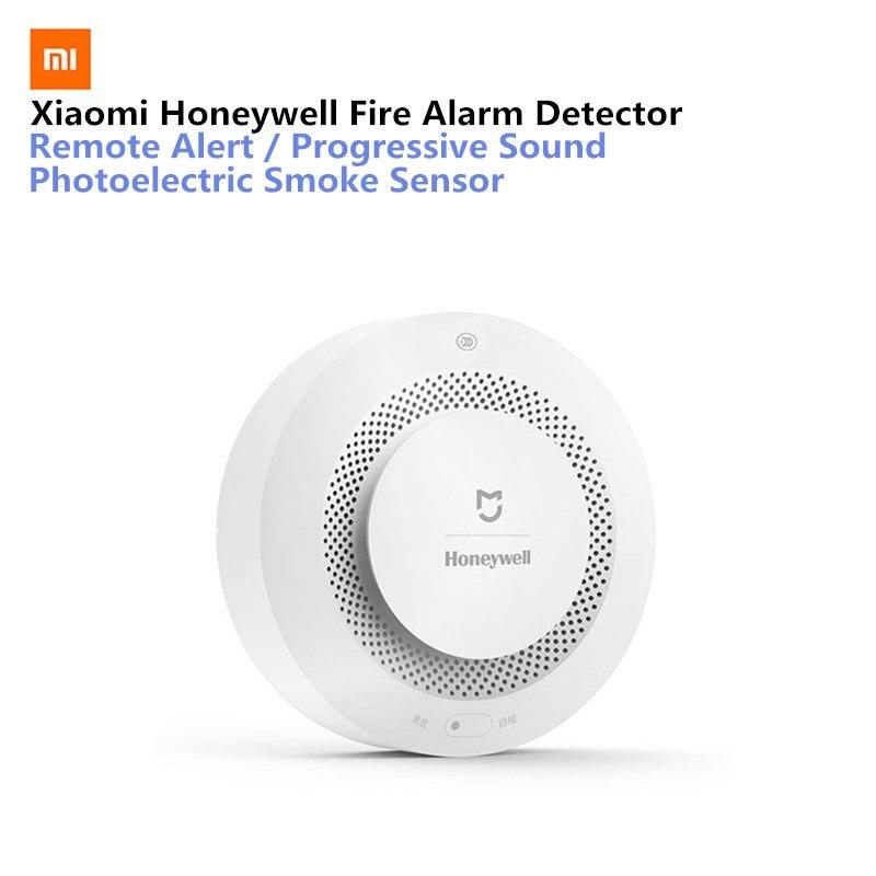 Xiaomi Mijia Honeywell fuego Detector de alarma Audible Visual Sensor de humo remoto Mihome APP ControlGas/Detector de alarma