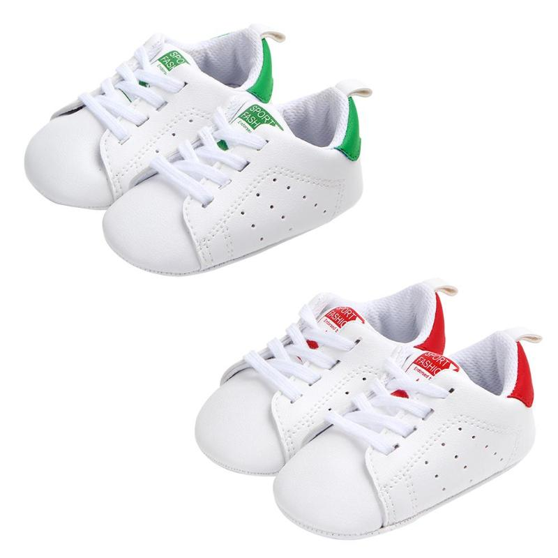 Baby Shoes Unisex Infant Soft Soles Classic Sports Sneakers Anti-slip Breathable Tied Toddler Newborn Baby Boys Girls Shoes