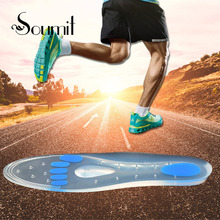Soumit Unisex Medical Silicone Gel Orthotic Insoles Treatment Heel Pain Arch Support Running Sport Insoles Shock Absorption Pads