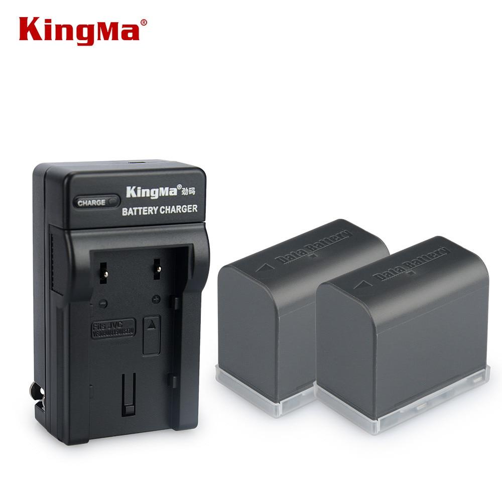 KingMa 2PCS BN-VF823U 2450mAh <font><b>Camcorder</b></font> Battery+ <font><b>charger</b></font> for <font><b>JVC</b></font> BN-VF815 BN-VF815U BNVF823 BN VF823U