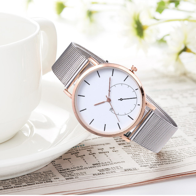 Moment # N03 DROPSHIP relogio 2018 Fashion Womens Watches Quartz Stainless Steel Ladies Wrist Watch Bracelet Watch Dress New