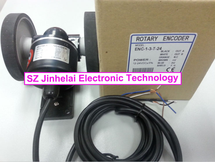 100% New and original  ENC-1-3-T-24   Autonics  Roller incremental rotary encoder 100% new and original e50s8 360 3 n 24 e50s8 60 3 t 24 autonics incremental rotary encoder