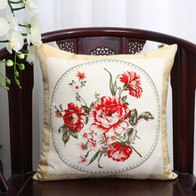 Free shipping 2piece/pack High Quality Double-sided  Bamboo Pattern 100% Silk Couch Pillow Covers