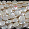 FREE SHIPPING1string 88-21 Natural Cultured Freshwater 13mm coin Pearl beads Great for Jewelry Making ,Loose beads