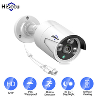 Hiseeu HD 720P 1.0MP Bullet POE IP Camera ONVIF Waterproof network security camera Outdoor IR day Night home video surveillance