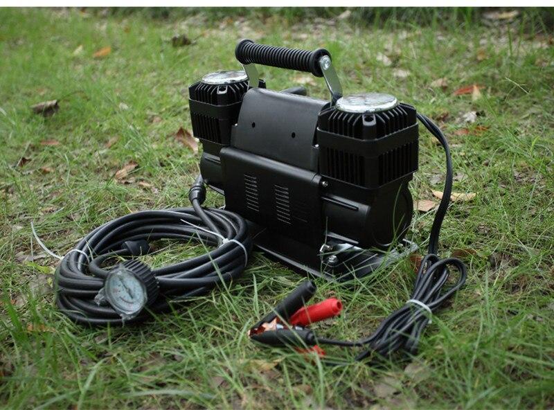 Купить с кэшбэком 12V 150PSI Car Air Compressor 300L/Min Portable Pressure Pump Tyre Deflator 4WD