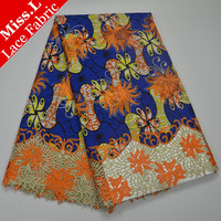 Miss L Wholesale And Retail New Arrival Wax Lace Fabrics 6 Yards High Quality Embroidery With