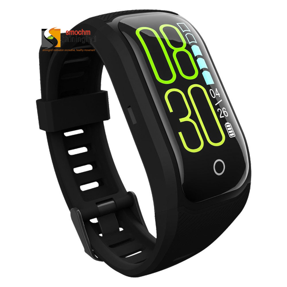Smochm S908s Color Touch Fitness Band GPS Tracker Bracelet Sports Ecg Waterproof Pedometer Blood Pressure Monitor