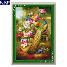 NKF Wealth and Honour Peacock Patterns Counted Cross Stitch