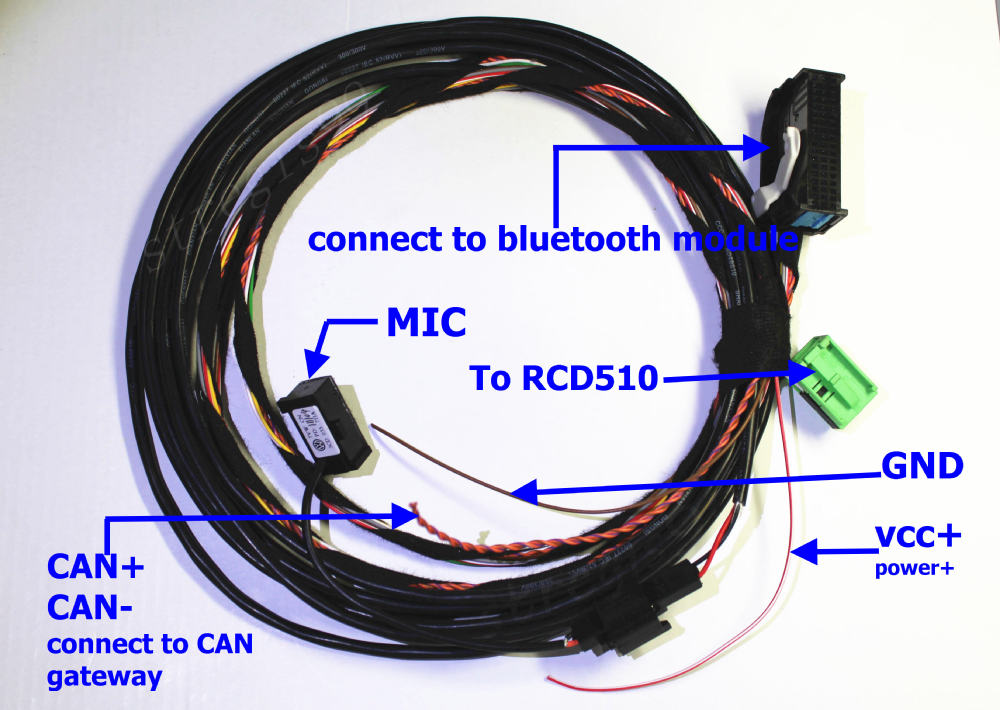 Wire Harness and Microphone For VW Bluetooth Interface Module 9W2 1k8 035 730 D For RCD510 rebel car wiring diagram 2005 sportster wiring diagram \u2022 edmiracle co  at fashall.co