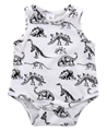 Baby Boy Девушка Одежда Короткие Рукавов Динозавров Печати Летом 2016 Ребенка Ползунки Новорожденных Следующая Комбинезоны и Rompers