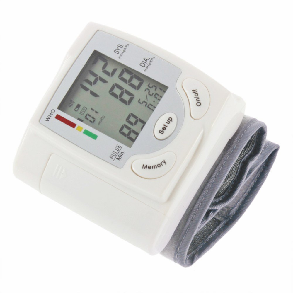 Gustala Automatic Digital Sphygmomanometer Wrist Cuff Arm Blood Pressure Monitor Meter Gauge Measure Portable Bracelet Device 26
