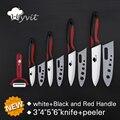 "High Quality Kitchen Ceramic Knife set 3"" 4"" 5"" 6"" inch + peeler  White Blade Paring Fruit Vege Cooking Knife Kitchen Knives set"