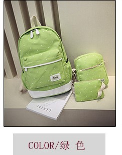 3pcs/set 2018 PREPPY STYLE Canvas School Bags Backpack for Teenage Grils Casual Women Backpack Preppy Dot Computer Travel Bag