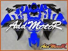 2016  Motorcycle ABS  plastic  Motoegg Bodywork Injection Molded Fairing YZF R1 YZF-R1 2012-2014 Blue Black #28